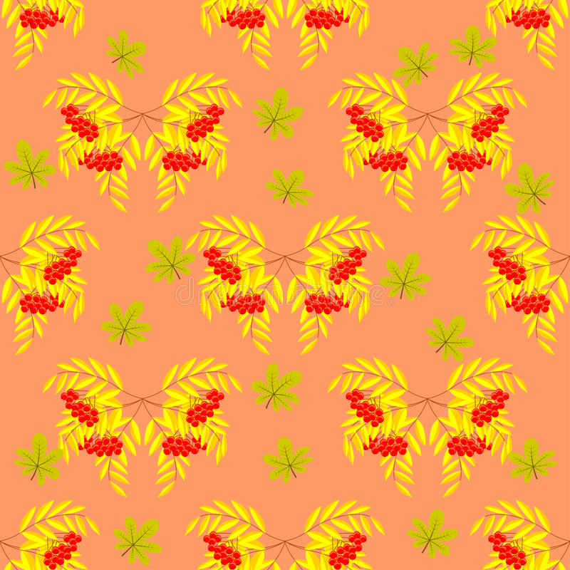 Download Seamless Pattern Of Rowan Branches With Berries-03 Stock Vector - Illustration of illustration, autumn: 83701902