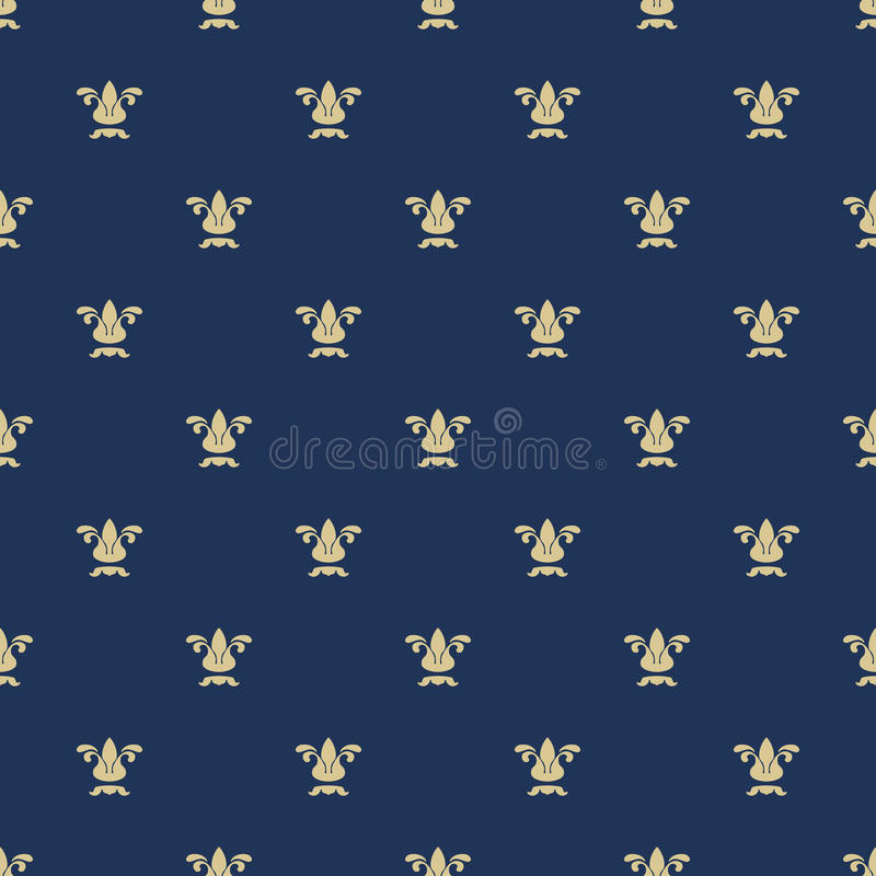 Seamless pattern with royal lily texture royalty free illustration