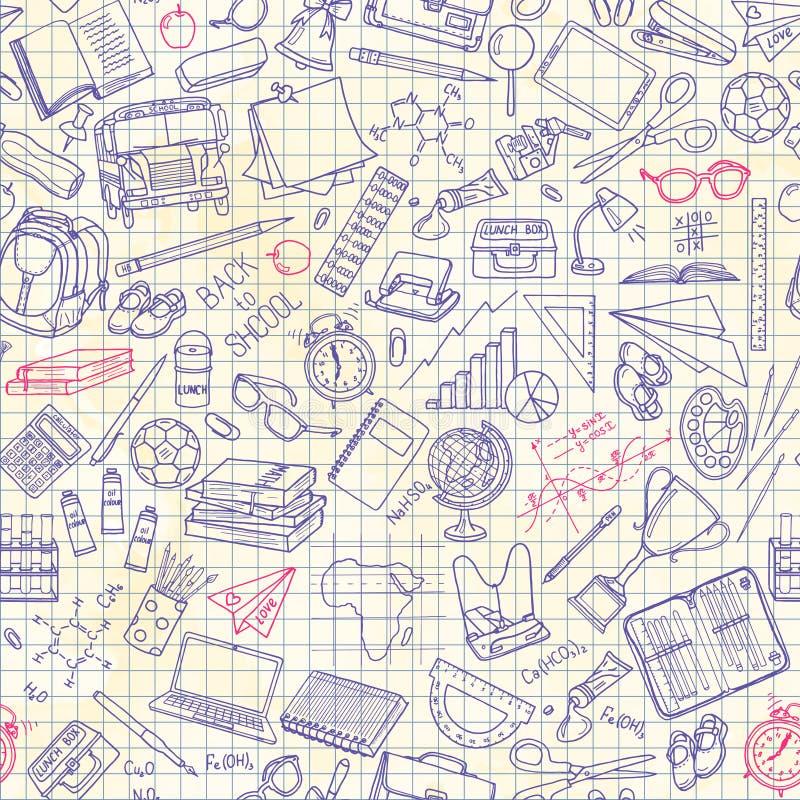 Seamless pattern with school stuff. Vector illustration vector illustration