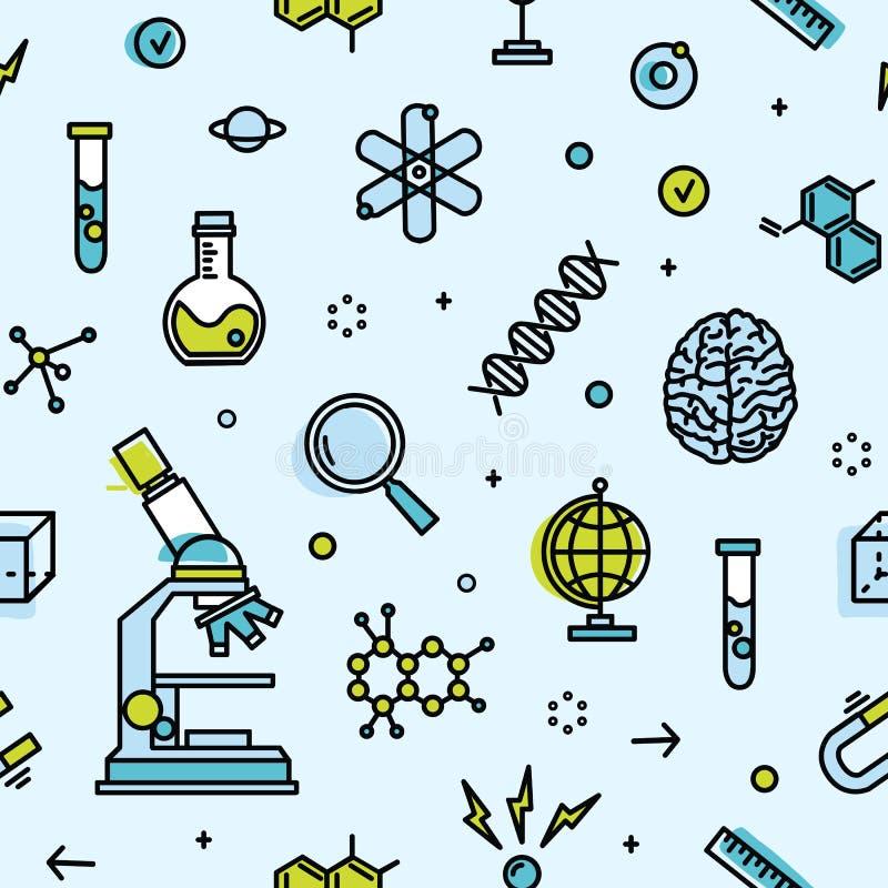Science Laboratory Background Design: Laboratory Wallpaper Stock Illustrations
