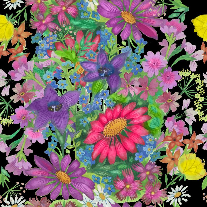 Seamless pattern Seamless pattern with flowers abstract background.s vector illustration