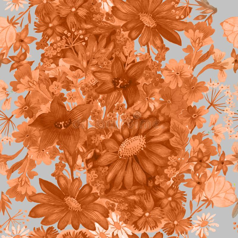 Seamless pattern Seamless pattern with flowers abstract background.s royalty free illustration