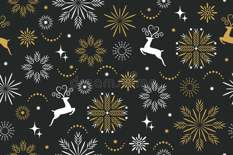 Seamless pattern, seasons greetings background vector illustration