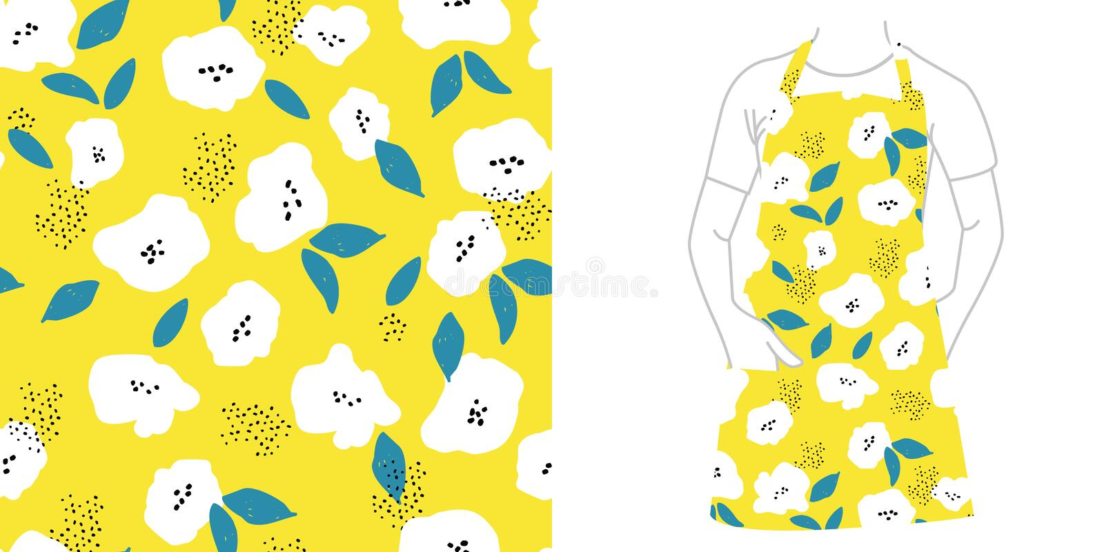 Seamless pattern. Seeds and flowers. vector illustration