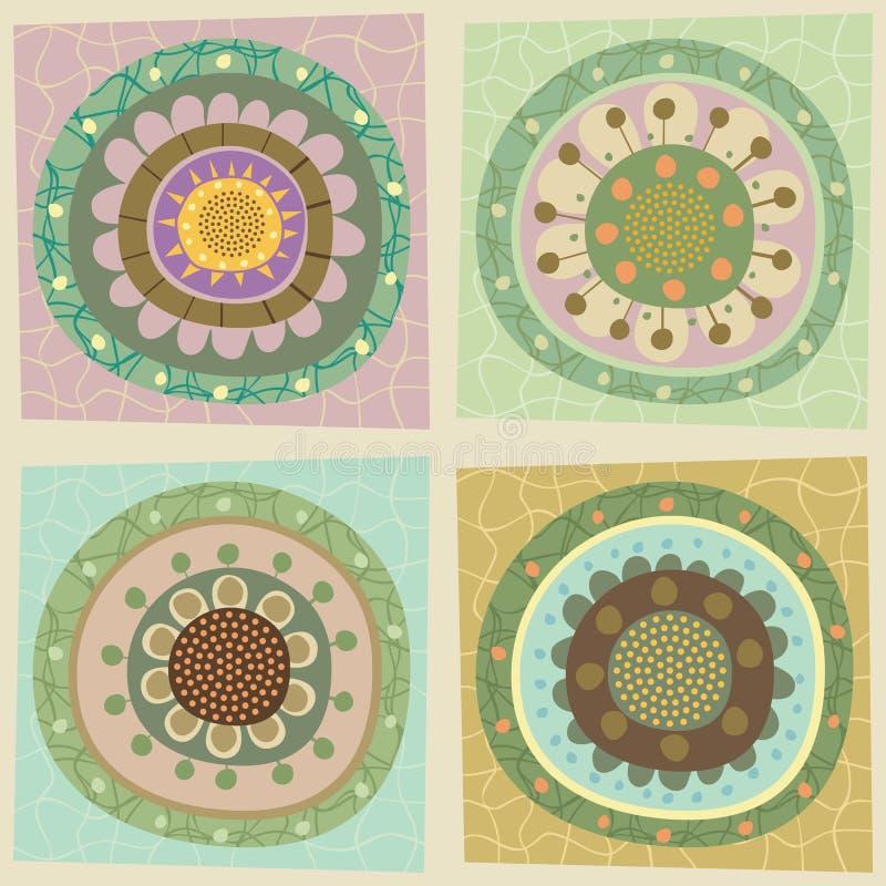 Download Decorative floral tiles stock vector. Illustration of stamp - 30283063