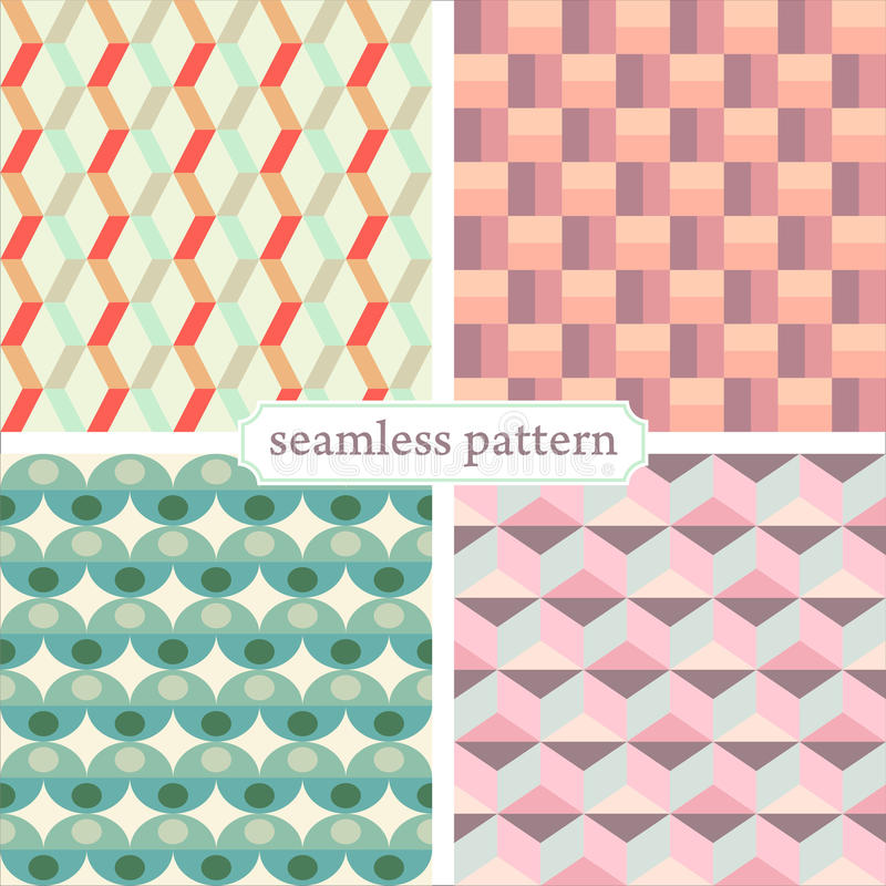 Seamless pattern set 1 stock photos