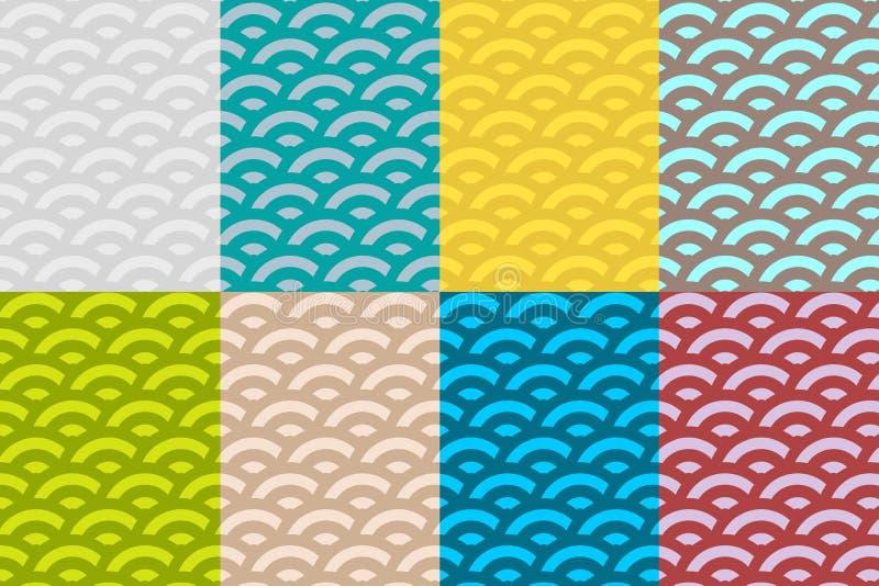 Seamless Pattern Set. Vector vector illustration