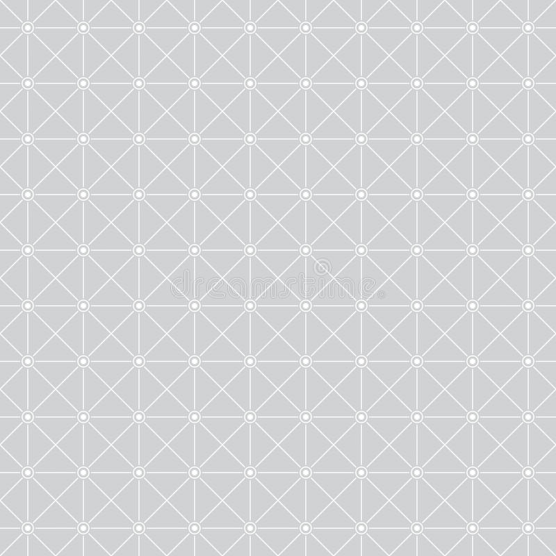 Seamless pattern376. Seamless pattern. Simple geometric texture with thin lines. Repeating geometrical shapes, rhombuses, squares, dots, circles. Monochrome stock illustration