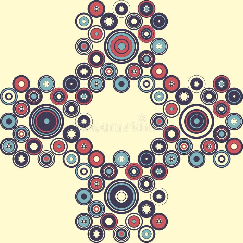 Seamless pattern of simple geometry. Retro-style illustration royalty free stock images