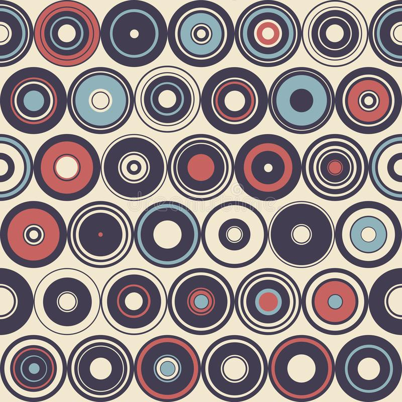 Seamless pattern of simple geometry. Retro-style illustration stock photos