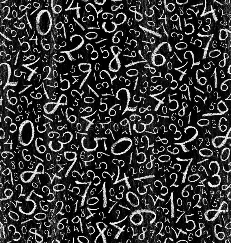 Seamless pattern: simple numbers background stock illustration