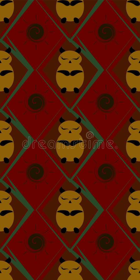 Seamless pattern of sleeping cute little animals royalty free stock photos