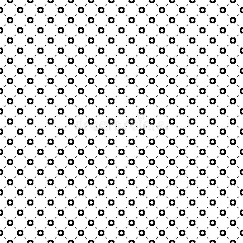 Seamless pattern, smooth geometric figures, circles, lines. Vector seamless pattern. Smooth geometric figures, circles, lines. Monochrome illustration, simple royalty free illustration