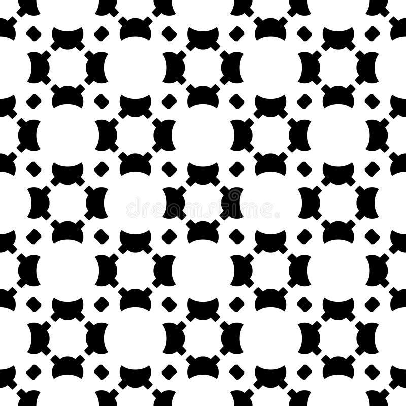 Seamless pattern, smooth geometric figures, diagonal lattice stock illustration