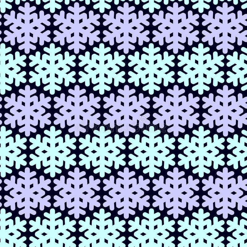 Seamless pattern with snowflak. Black and white simple and elegant wallpaper. stock illustration