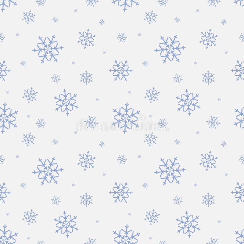 Seamless Pattern With Snowflake Winter Season Background With Snowfall Christmas And New Year Holiday Print Stock Vector Illustration Of Design Background 82707638