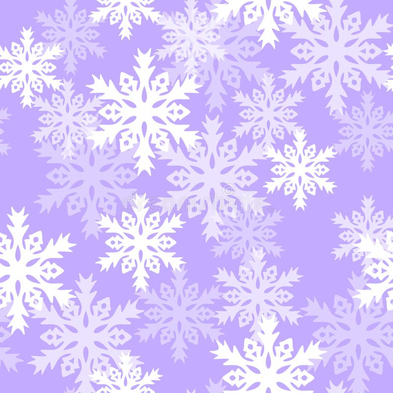 Seamless pattern with with snowflakes. Background for gift wrapping. Decoration fabric. Wallpaper design royalty free illustration