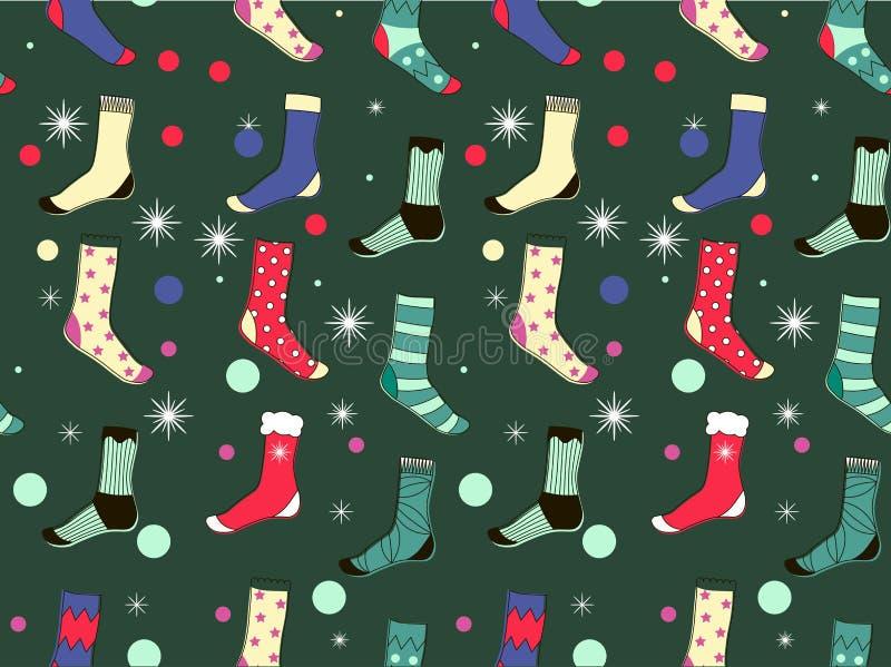 Seamless pattern socks. vector illustration. royalty free stock images