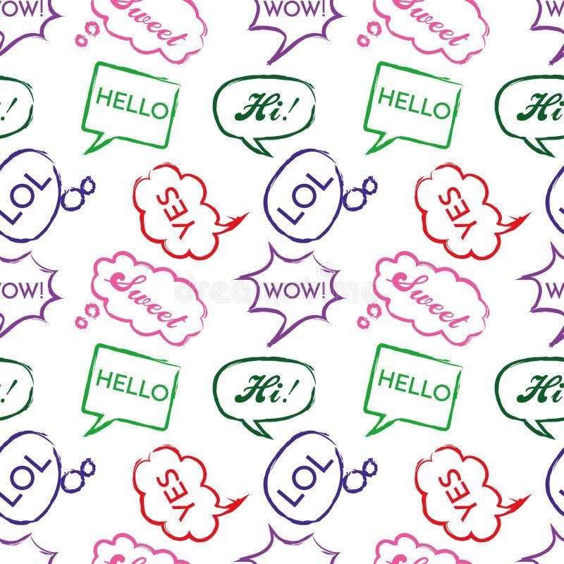 Seamless Pop Art Speech Bubbles Stock Illustration