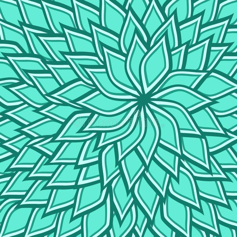 Seamless pattern of spiral blue lotus flower stock images