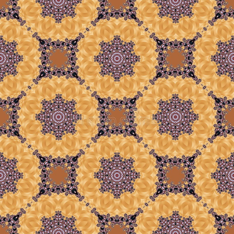 Seamless pattern with spiral and circle ornament. You can use it. For invitations, notebook covers, phone case, postcards, cards, ceramics, carpets and so on vector illustration