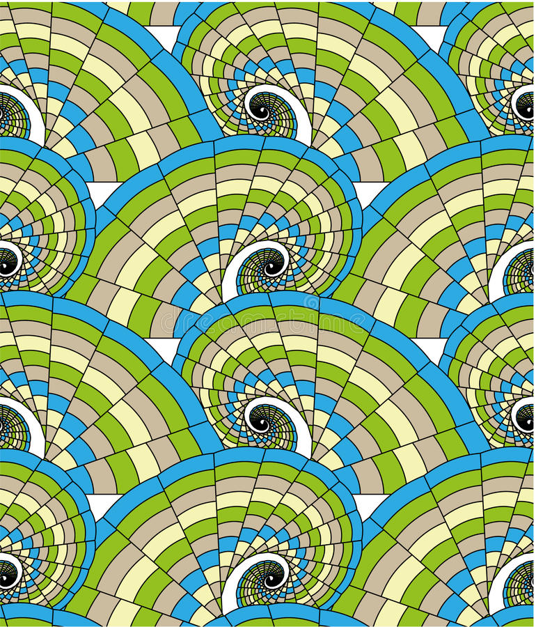 Download Seamless pattern - spirals stock vector. Image of decoration - 15335904