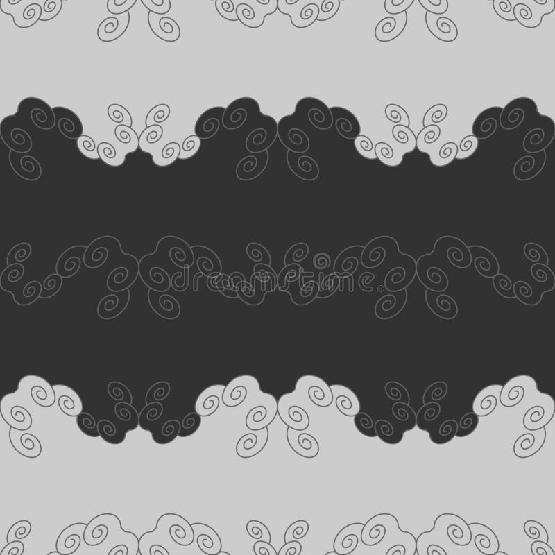 Seamless pattern with spirals. Dark grey and Light grey. Vector. This seamless pattern can be used  for many things different : wallpaper, tile, clothes stock illustration