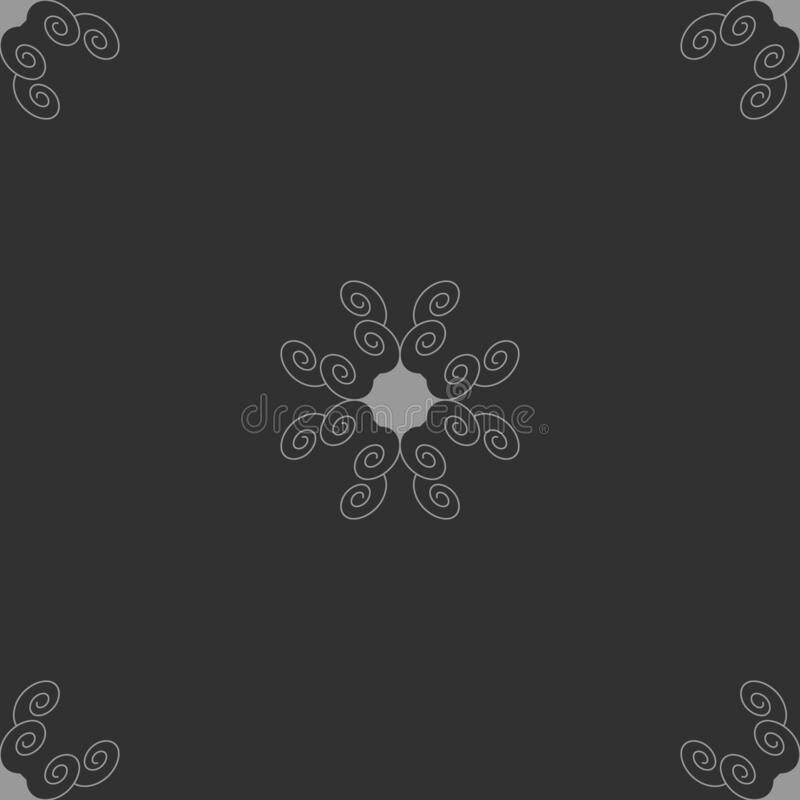 Seamless pattern with spirals. Dark grey and Light grey. Vector. This seamless pattern can be used  for many things different : wallpaper, tile, clothes royalty free illustration