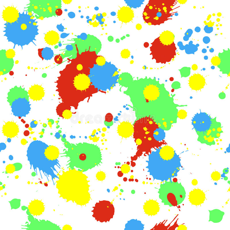 Seamless pattern with splashes, blobs and stains royalty free illustration