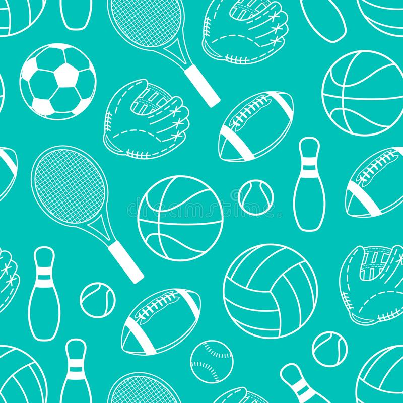 Seamless pattern. Sport. Sports game. Healthy lifestyle. Vector illustration royalty free illustration