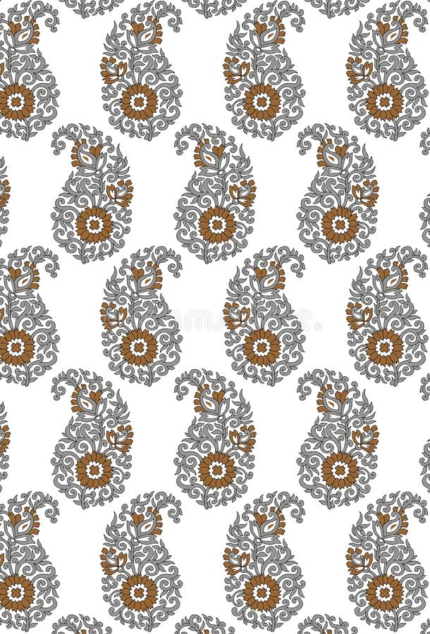 Seamless pattern with spots. Repeating texture with abstract blotches. Textile Indian ornament pattern art design Seamless Paisley beautiful Pattern Indian vector illustration