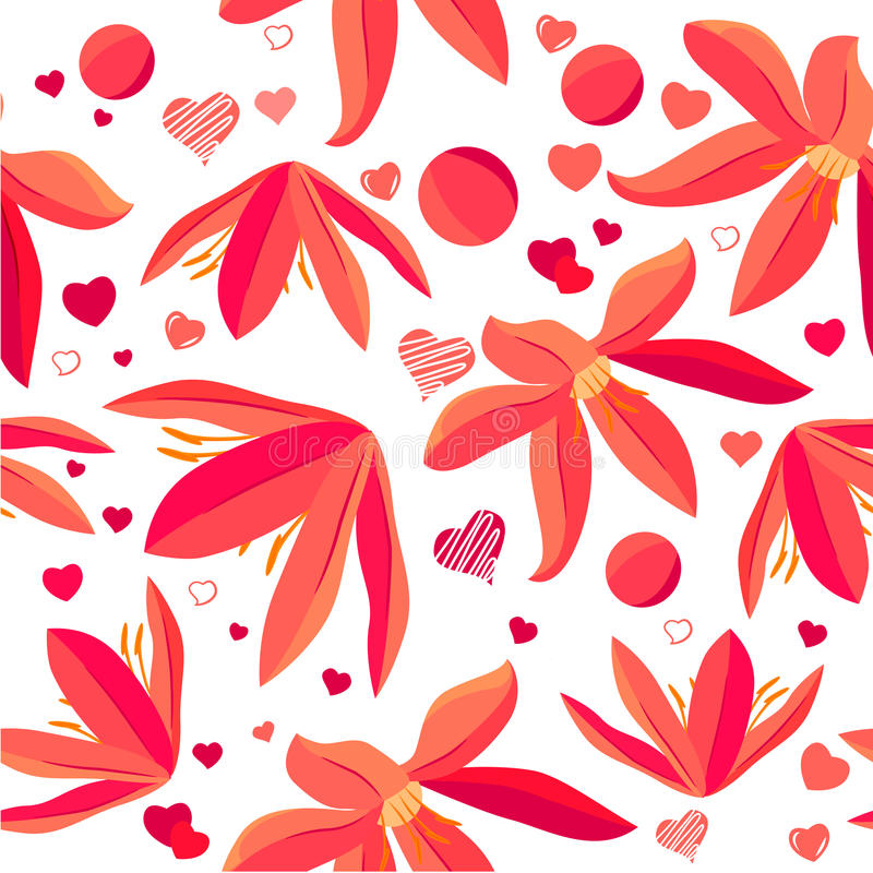 Download Seamless Pattern With Spring Flowers Royalty Free Stock Photos - Image: 18111898