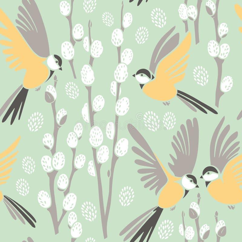 Seamless pattern, spring royalty free stock image