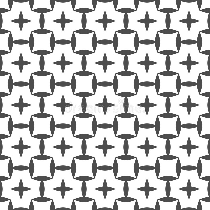 Seamless pattern of squares and round shapes. Geometric wallpaper. Unusual lattice. stock illustration
