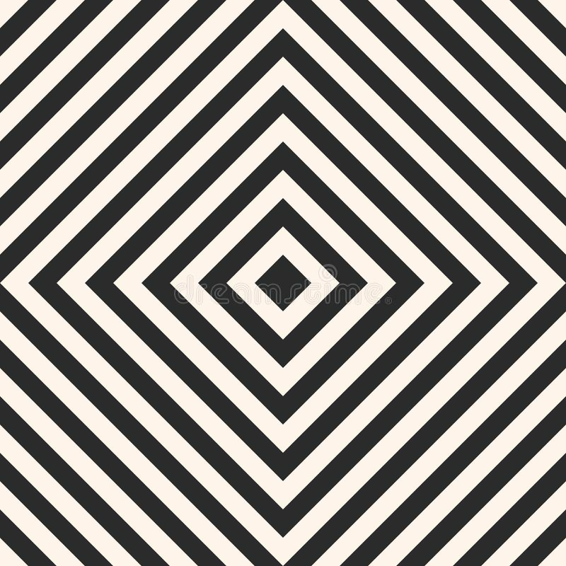 Seamless pattern with squares, stripes, diagonal lines. vector illustration