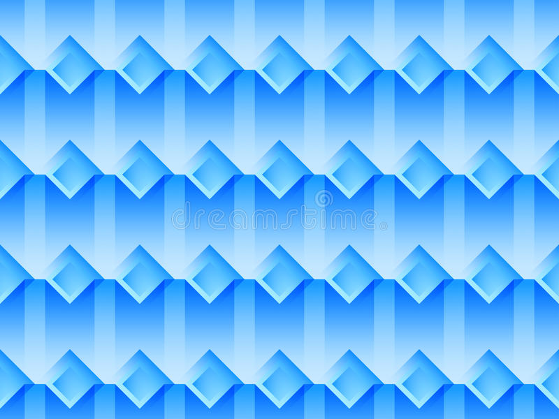 Seamless pattern with squares and transparent shadows in blue colors. Vector stock illustration