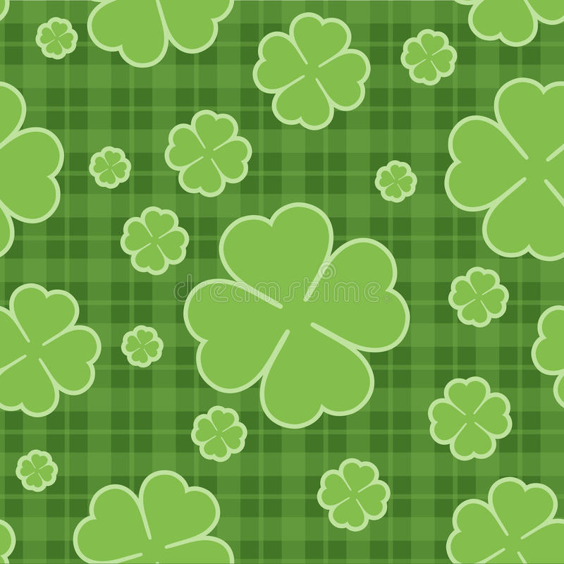 Seamless pattern St. Patrick Day. Vector royalty free illustration