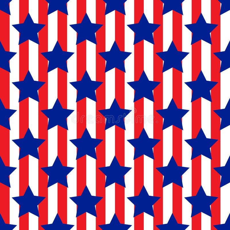 Seamless pattern with star patriotic usa stock illustration