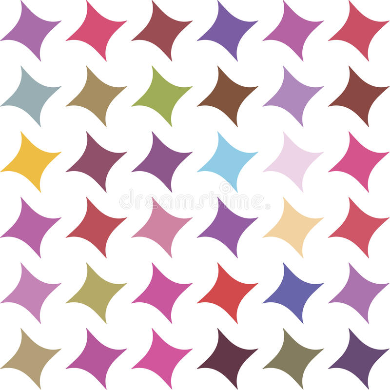 Seamless pattern with stars stock illustration
