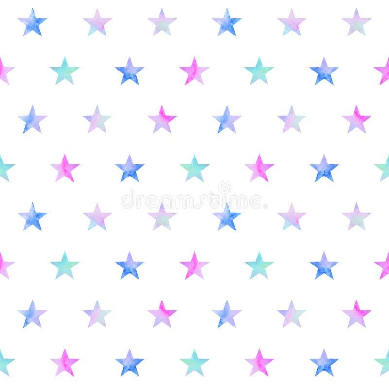 Seamless pattern with stars stock illustration