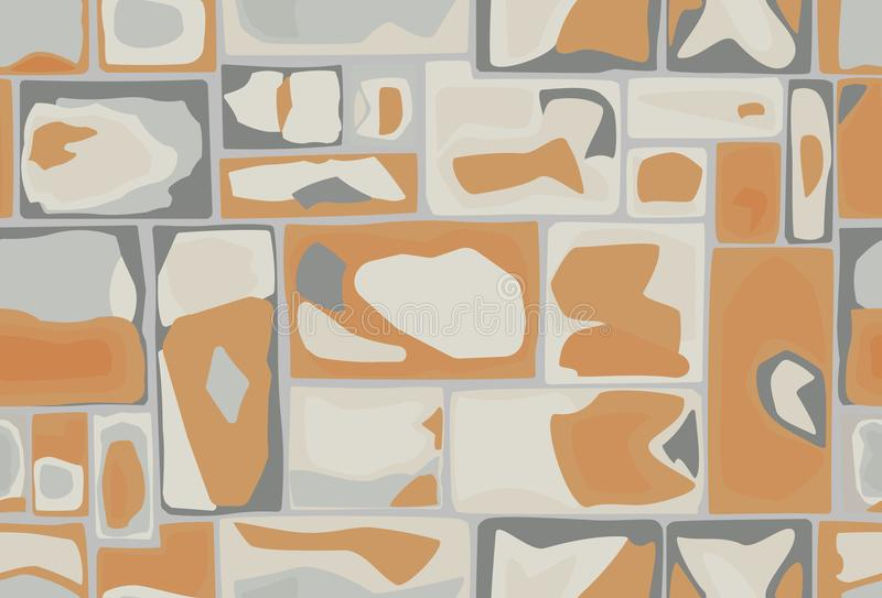 Seamless pattern of stones. In gray-brown colors royalty free illustration
