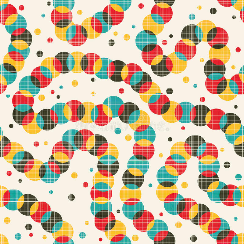 Seamless pattern with strange decoration. Vector background royalty free illustration