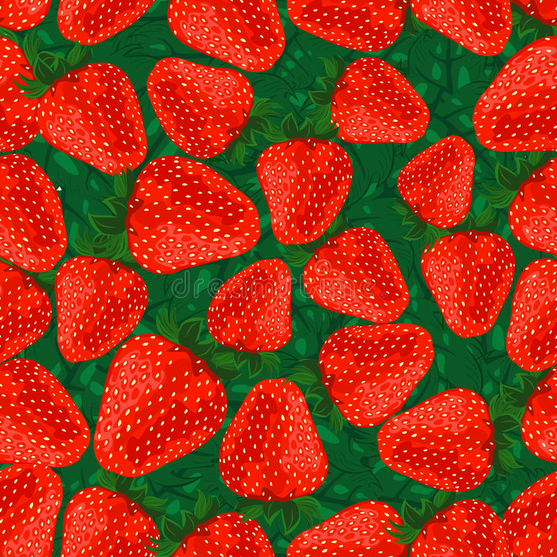 Download Seamless Pattern Strawberries. Stock Photo - Image: 24127270