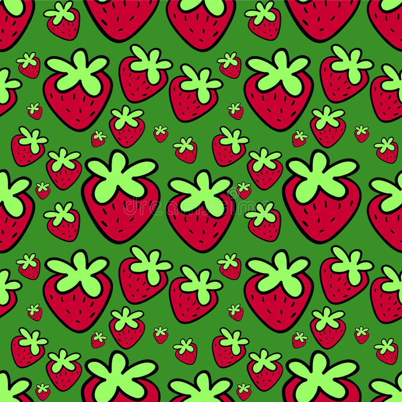 Download Seamless Pattern With Strawberries Stock Vector - Illustration of strawberry, drawing: 27665546