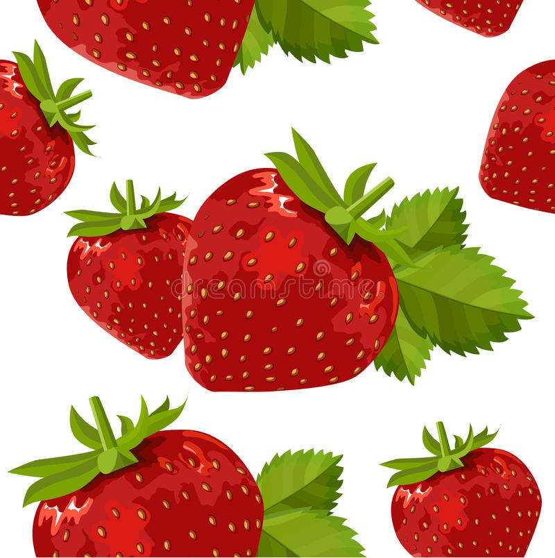 Download Seamless Pattern With Strawberry Stock Vector - Illustration: 21235678