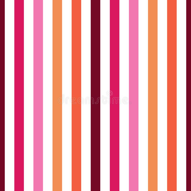 Seamless pattern stripe brown, pink, orange, yellow colors. Vertical pattern stripe abstract background vector illustration royalty free illustration