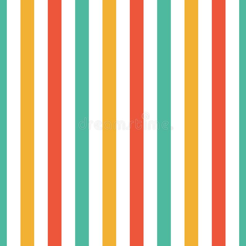 Seamless pattern stripe red, green, orange and yellow colors. Vertical pattern stripe abstract background vector illustration.  vector illustration
