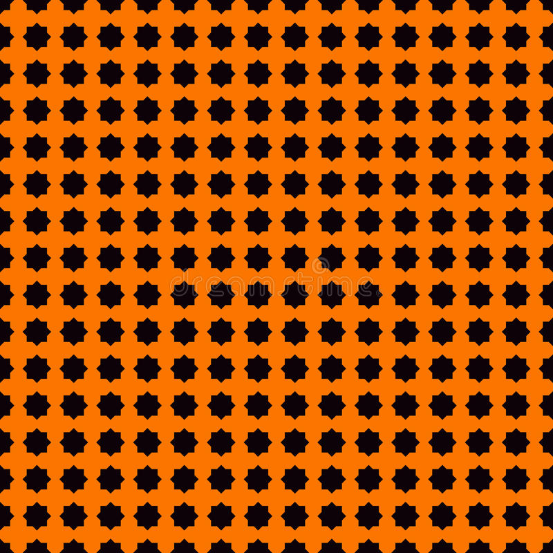 Seamless pattern with stylezed black ink spots on orange background. Halloween design concept digital paper. royalty free illustration