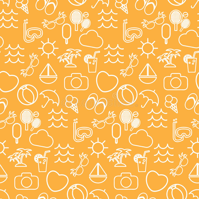 Seamless pattern in stylish colors , tourism. Seamless pattern in stylish colors of traveling, tourism and vacation theme. Vector illustration stock illustration