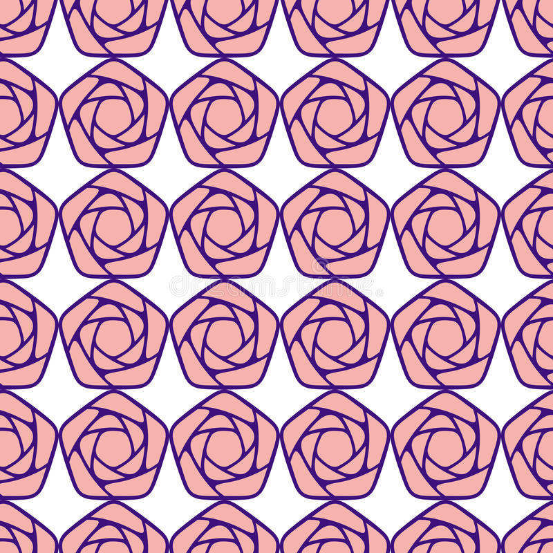 Seamless pattern with stylized roses royalty free illustration